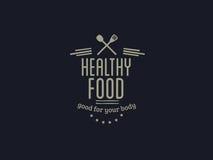 Gezond voedsel vectorcitaat royalty-vrije stock foto's