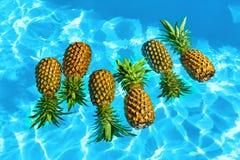Gezond voedsel Verse Organische Ananassen in Water Vruchten Nutriti stock afbeeldingen