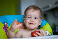 Gezond voedsel voor baby Royalty-vrije Stock Afbeelding