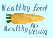 Gezond voedsel voor gezonde visie royalty-vrije illustratie