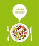gezond voedsel voor het op dieet zijn ontwerp royalty-vrije illustratie