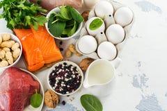 Gezond voedsel voor mooi haar Stock Foto's