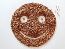 Gezond voedsel Vriendelijke glimlach stock afbeelding
