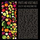 Gezond voedselconcept royalty-vrije illustratie