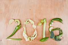 2016 Gezond Voedselconcept Stock Afbeeldingen