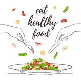 Gezond voedselconcept vector illustratie