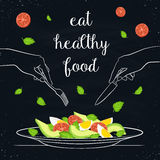 Gezond voedselconcept stock illustratie
