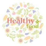 Gezond voedselembleem Royalty-vrije Stock Foto