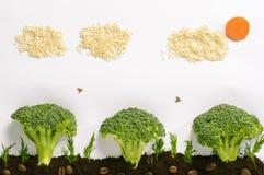 Gezond voedsellandschap Royalty-vrije Stock Afbeeldingen