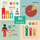 Gezond voedselontwerp stock illustratie