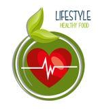 Gezond voedselontwerp Royalty-vrije Stock Foto