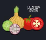 Gezond voedselontwerp vector illustratie