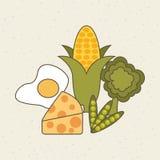 Gezond voedselontwerp Royalty-vrije Stock Foto's