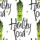 Gezond voedselpatroon met asperge Royalty-vrije Stock Afbeelding