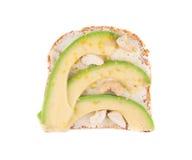 Gezonde avocadosandwich Stock Afbeelding