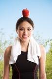 Gezonde Aziatische vrouw stock afbeelding