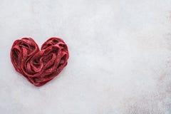 Gezonde bietendeegwaren voor het de Dagdiner van romantisch Valentine royalty-vrije stock afbeeldingen
