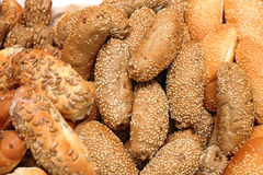 Gezonde broodbroodjes met zaden stock foto's