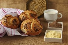 Gezonde broodjes voor ontbijt stock foto's