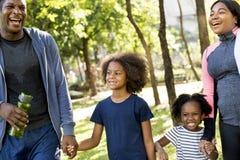 Gezonde de Familie in openlucht Vitaliteit van de oefeningsactiviteit stock afbeeldingen