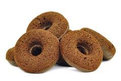Gezonde die veganist donuts met blackstrapmelasse wordt gemaakt Stock Foto's