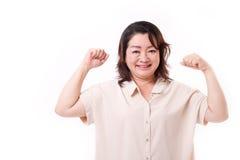 Gezonde en sterke hogere vrouw Stock Fotografie