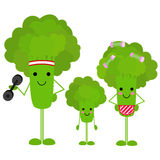 Gezonde familiebroccoli royalty-vrije illustratie