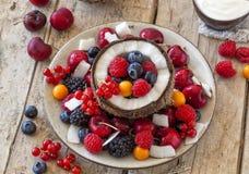 Gezonde fruitsalade Royalty-vrije Stock Afbeelding