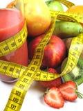 Gezonde fruitshake stock afbeelding