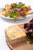 Gezonde gastronomische salade stock afbeelding