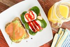Gezonde gastronomische snacks Stock Fotografie
