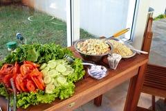Gezonde gediende maaltijd Stock Foto