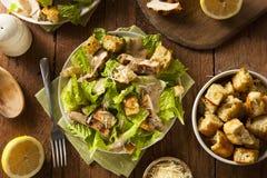 Gezonde Geroosterde Kip Caesar Salad Royalty-vrije Stock Foto