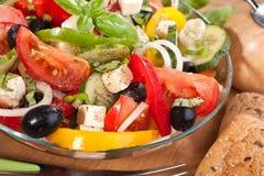 Gezonde Griekse Salade royalty-vrije stock fotografie
