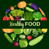 gezonde groenten en vegetarisch voedsel Stock Foto's