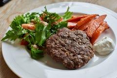 Gezonde Hamburgermaaltijd Stock Afbeeldingen