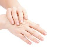 Gezonde Handmassage Stock Foto