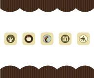 Gezonde het leven pictogrammen Royalty-vrije Stock Fotografie