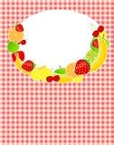 Gezonde het malplaatje vectorillustratie van het voedselmenu Stock Foto's