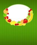 Gezonde het malplaatje vectorillustratie van het voedselmenu Stock Foto