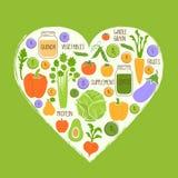 Gezonde het voedselachtergrond van het veganistrestaurant, rooster Royalty-vrije Stock Foto
