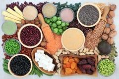 Gezonde Hoogte - eiwit Super Voedsel royalty-vrije stock foto