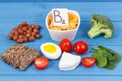 Gezonde ingredi?nten als bronmineralen, vitamine B2 en dieetvezel, voedzaam het eten concept stock afbeeldingen