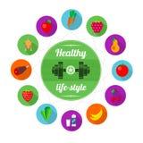gezonde levensstijl Vector Illustratie