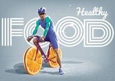 Gezonde Levensstijl Fietser op een fiets vector illustratie