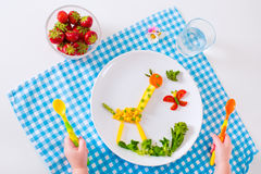 Gezonde lunch voor kinderen Stock Afbeeldingen