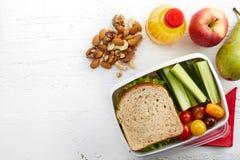 Gezonde lunchdoos royalty-vrije stock afbeelding