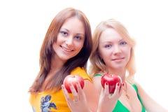 Gezonde meisjes op een dieet Stock Afbeelding