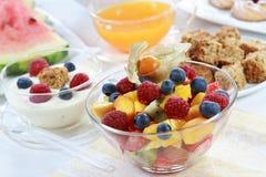 Gezonde ontbijt of snack stock afbeelding
