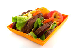 Gezonde open lunchdoos royalty-vrije stock afbeelding